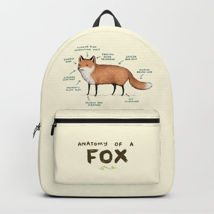 Anatomy of a Fox Backpack by sophiecorrigan | Society6