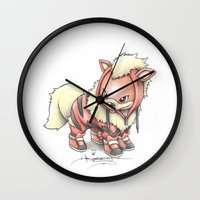 projectrocket Wall Clocks featuring K-9 Unit by Randy C