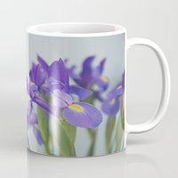iris Mugs featuring iris by shannonblue