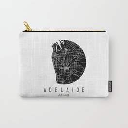 Adelaide White Round Carry-All Pouch