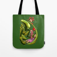 family Tote Bags featuring Family by Artistic Dyslexia