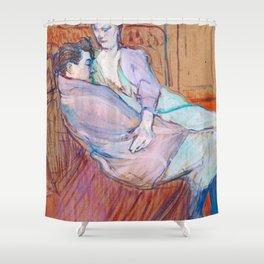 """Henri de Toulouse-Lautrec """"The Two Friends"""" Shower Curtain"""