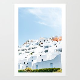 Lost in Santorini Greece Art Print