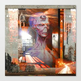 """CITY OF GODS """"The Alien Nation Collection"""" Canvas Print"""