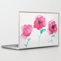 asian Laptop & iPad Skins featuring Asian Poppies by DuckyB