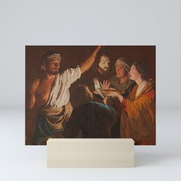 Matthias Stom - Salome receiving the Head of John the Baptist Mini Art Print