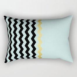 Chevron golden blue Rectangular Pillow