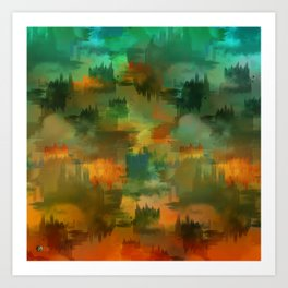 """""""Abstract forest in Autumn"""" Art Print"""