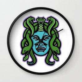 Medusa Greek God Mascot Wall Clock