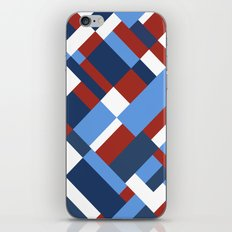 Map 45 Red White and Blue iPhone Skin