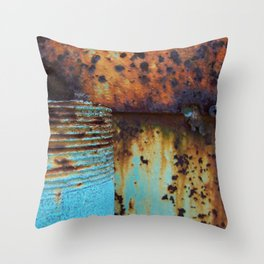 Blue Pipe Throw Pillow