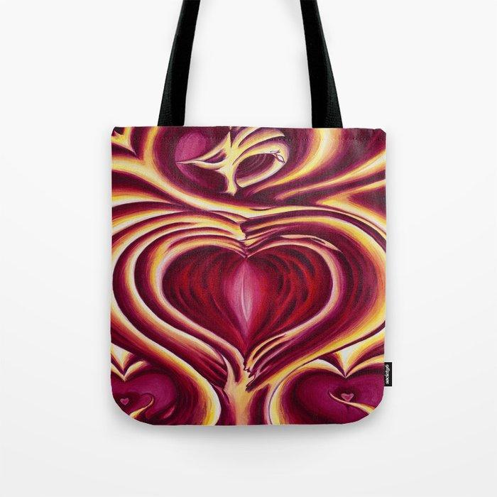 4 of hearts Tote Bag