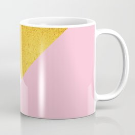 Gold & Pink Geometry Coffee Mug