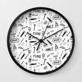 Remember to Floss Wall Clock
