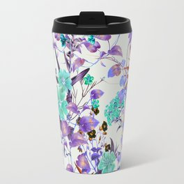 Illuminated vibrant bloom Travel Mug