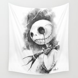 The Smile of the Pumpkin King Wall Tapestry