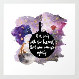 Little Prince With the Heart Art Print