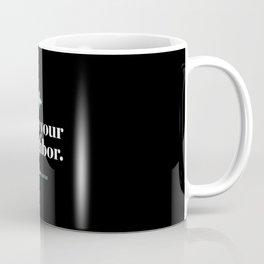 Encinitas – Love Your Neighbor – Union – Black Coffee Mug