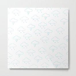 Precipitation Outline Metal Print