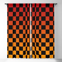 Chessboard Gradient V Blackout Curtain