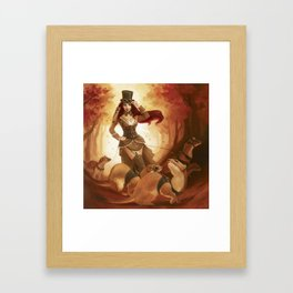 """A Sneak Of Weasels"" Steampunk Pin-Up Framed Art Print"