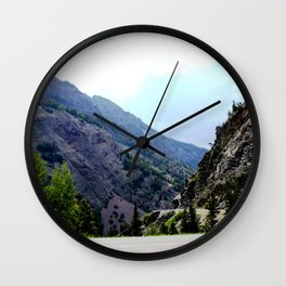 Driving the Spectacular, but Perilous Uncompahgre Gorge, No. 3 of 5 Wall Clock