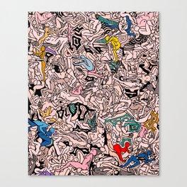 Kamasutra LOVE - Flesh Pink Canvas Print