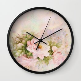 delicate vintage rose Wall Clock