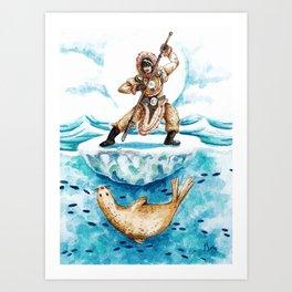 Inuit Hunter Art Print