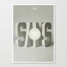 Sans Serif Canvas Print