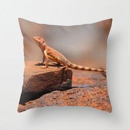 Karijini Lizard Throw Pillow
