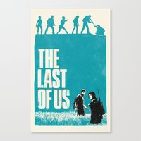 last of us Canvas Prints featuring The Last Of Us by Bill Pyle
