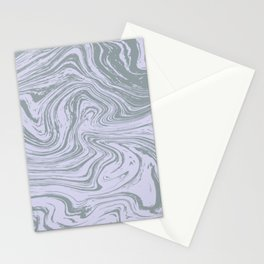 Pale lilac and sage green marble pattern Stationery Cards