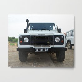 Classic Landrover Defender | classic car photography | oldtimer Metal Print
