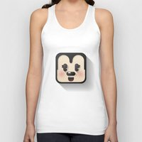 minnie mouse Tank Tops featuring minnie mouse cutie by designoMatt