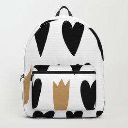 Minimal Heart and Queen bicolor Backpack