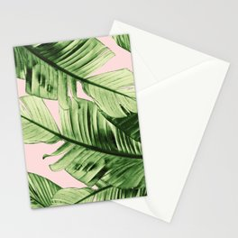 Tropical Blush Banana Leaves Dream #6 #decor #art #society6 Stationery Cards