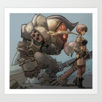 steampunk Art Prints featuring steampunk by Joël Jurion