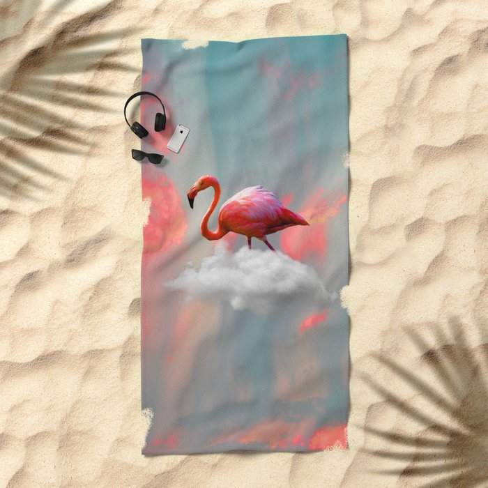 My Home up to the Clouds Beach Towel