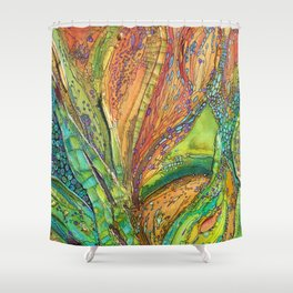 Elements in Motion Shower Curtain