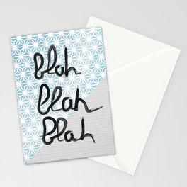 Blah blah blah graphic Stationery Cards