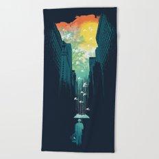 I Want My Blue Sky Beach Towel
