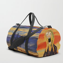 The Screamer - Really Freaked Out Duffle Bag