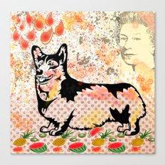 Corgi pop art Canvas Print