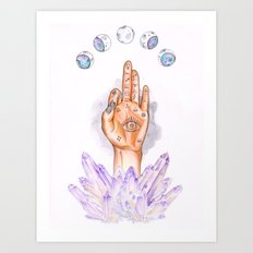 Astral Hand Art Print