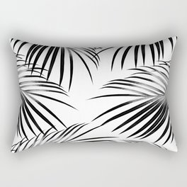 Black Palm Leaves Dream #2 #tropical #decor #art #society6 Rectangular Pillow