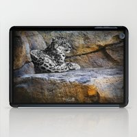 snow leopard iPad Cases featuring Snow Leopard by Jennifer Rose Cotts Photography