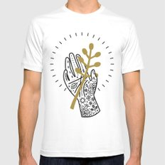 Grow MEDIUM Mens Fitted Tee White