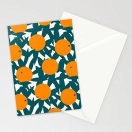 Art Deco Minimalist Orange Grove Stationery Cards