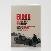 fargo Stationery Cards featuring Fargo Movie Poster  by FunnyFaceArt